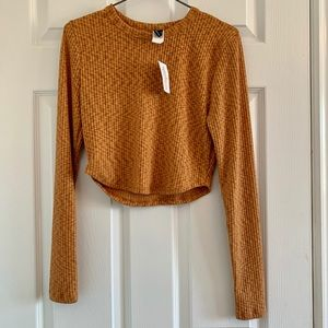 Burnt orange cropped long sleeve